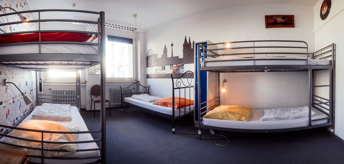 5- Bed room in the student quarter of cologen