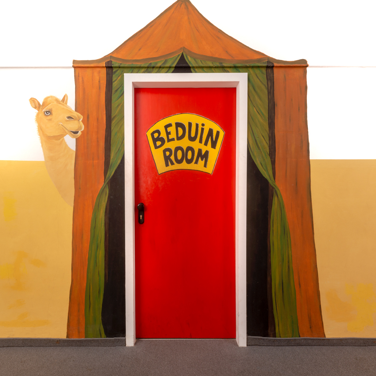 the beduin room door from the outside